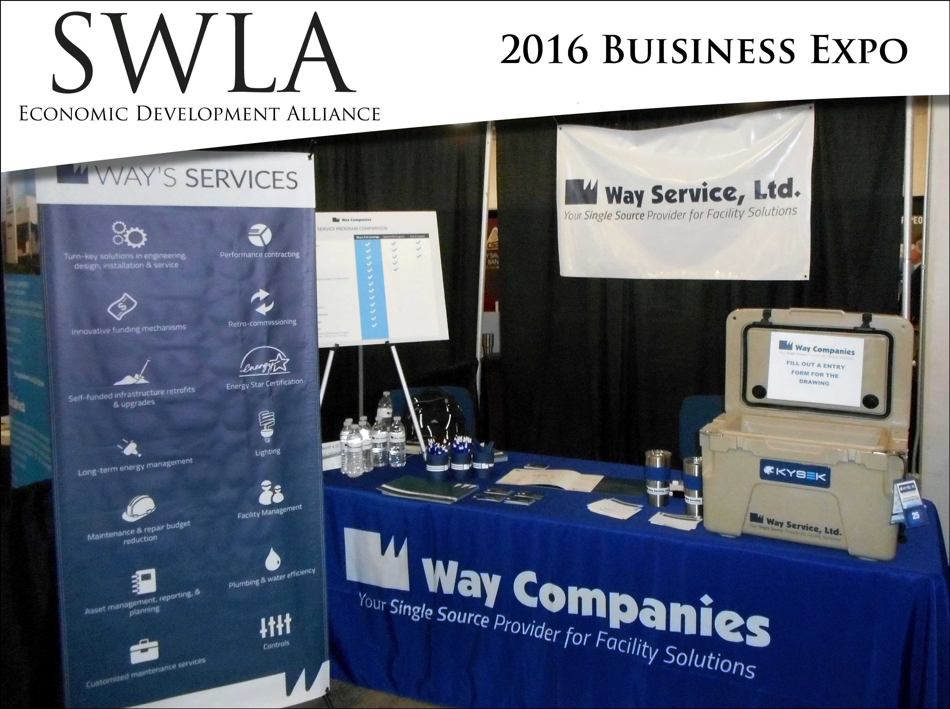 Way Companies' PACE table at SWLA Expo.
